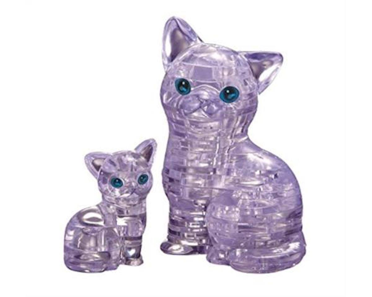 Bepuzzled 3D Crystal Puzzle - Cat with Kitten, 49 Pieces