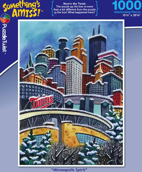 Somethings Amiss Puzzle Twist Minneapolis Spirit Twin Cities Skyline - 1000pcs