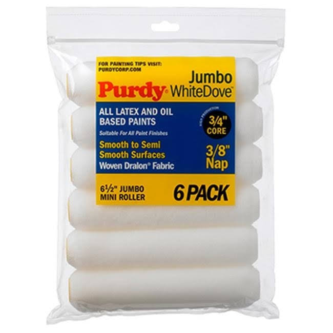 Purdy 140626612 White Dove Replacement Jumbo Mini Rollers - 6-1/2in