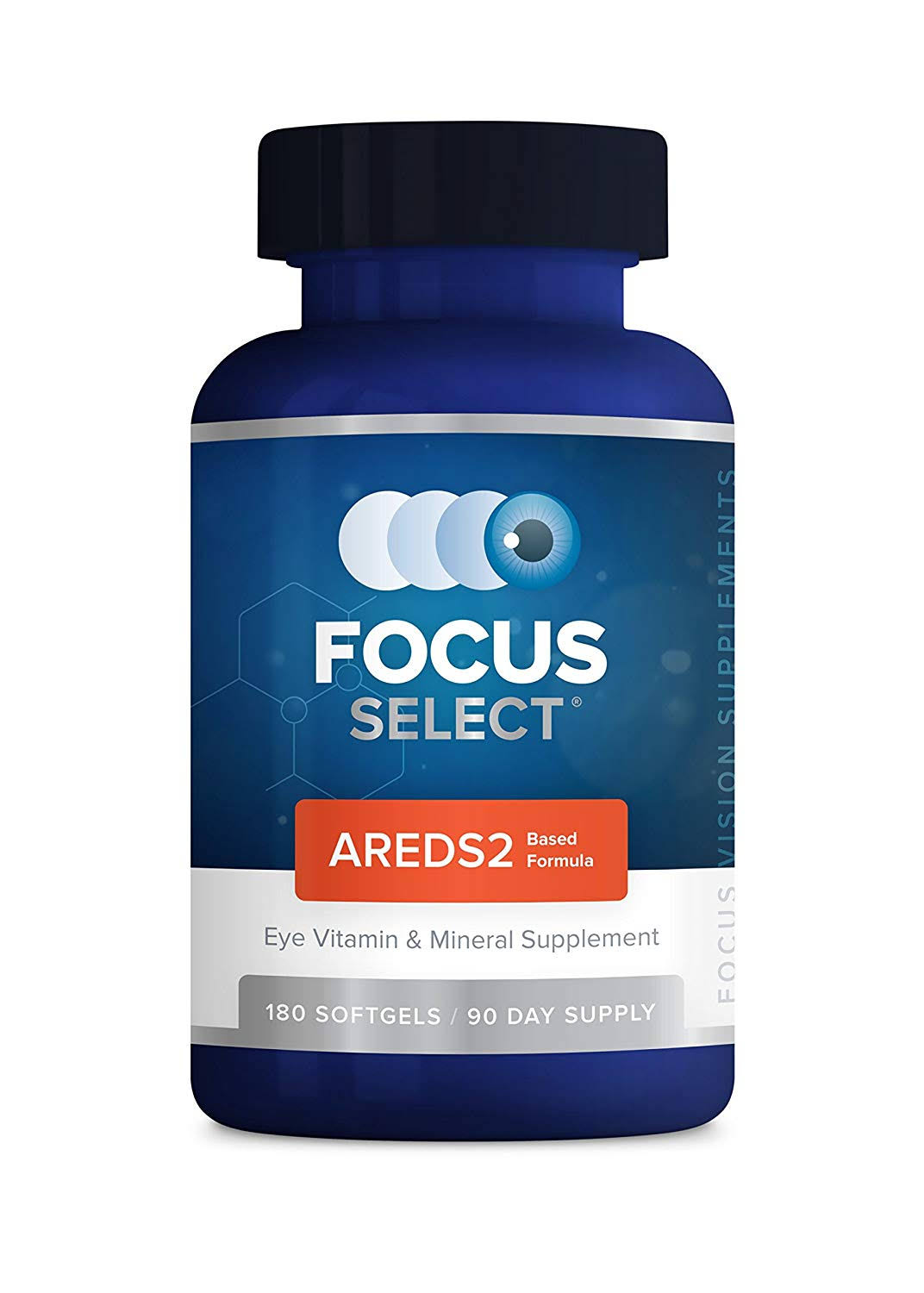 Focus Select AREDS2 Eye Vitamin Mineral Supplement - 180ct