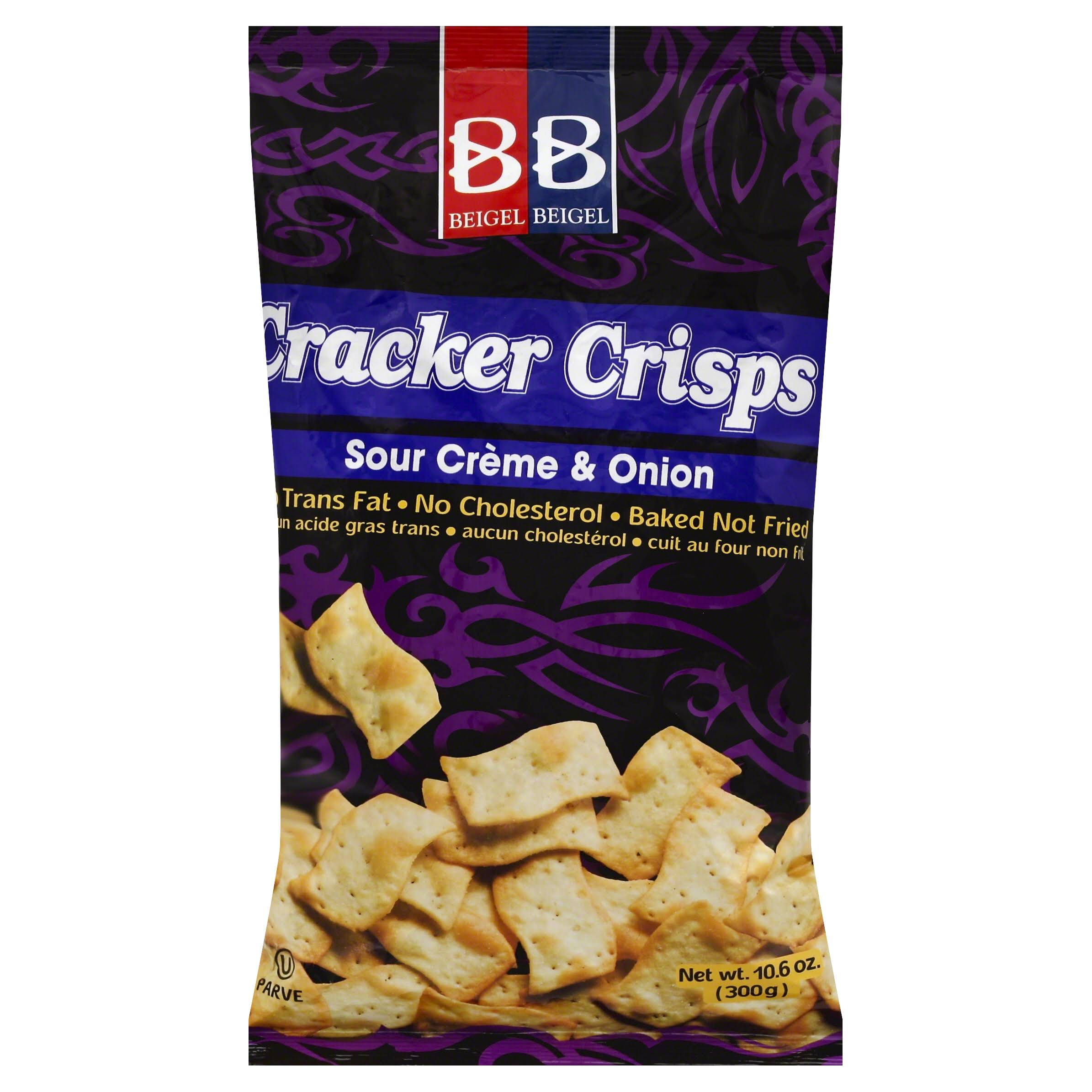 Beigel & Beigel Cracker Crisps - Sour Cream & Onion, 10.6oz