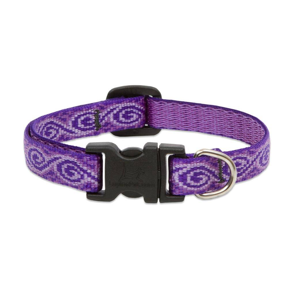 "Lupine Jelly Roll Adjustable Dog Collar - for Small Dogs, 1/2"" x 10"" to 16"""
