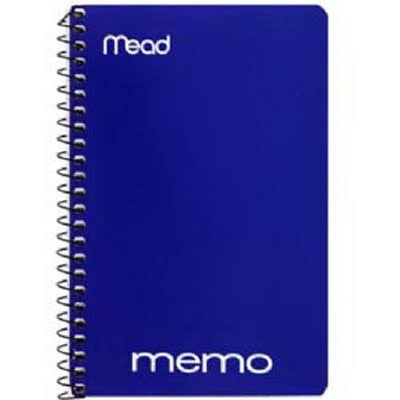 "Mead Memo Book - College Ruled, 6"" x 4"", Wirebound, 40 Sheets, Assorted"