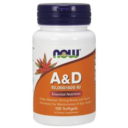Now Foods A & D Essential Nutrition Softgels - x100