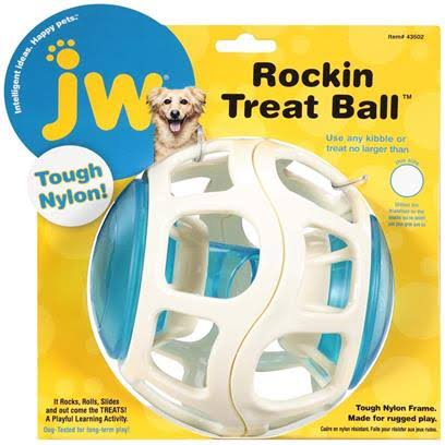 JW Pet Rockin Treat Ball Dog Toy