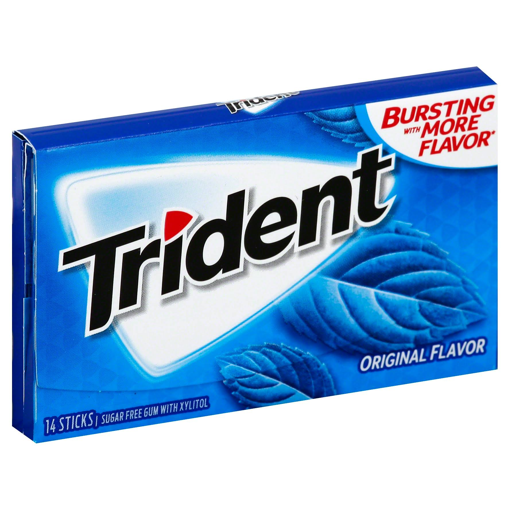 Trident Original Sugar Free Gum - Original, 14 Sticks, 0.95oz