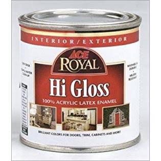 Clark + Kensington High Gloss Paint And Primer, Red - 8 oz can