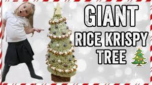 Rice Krispie Christmas Tree Cake by Giant Rice Krispy Krispmas Tree Youtube