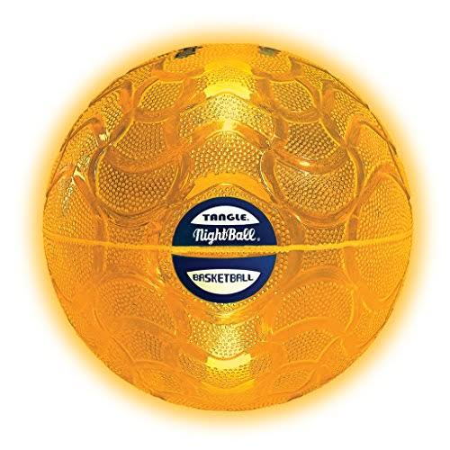 Tangle Nightball Glow in The Dark Light Up LED Basketball - Orange, Large