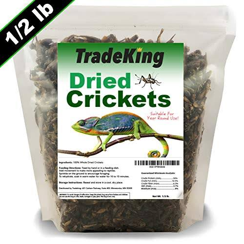 TradeKing Natural Dried Crickets - Food for Bearded Dragons, Wild Bir