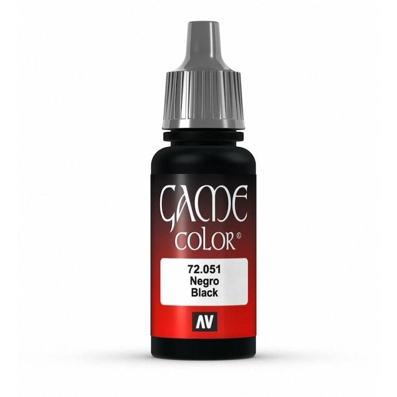Vallejo 72051 Black Game Color Paint - 17ml