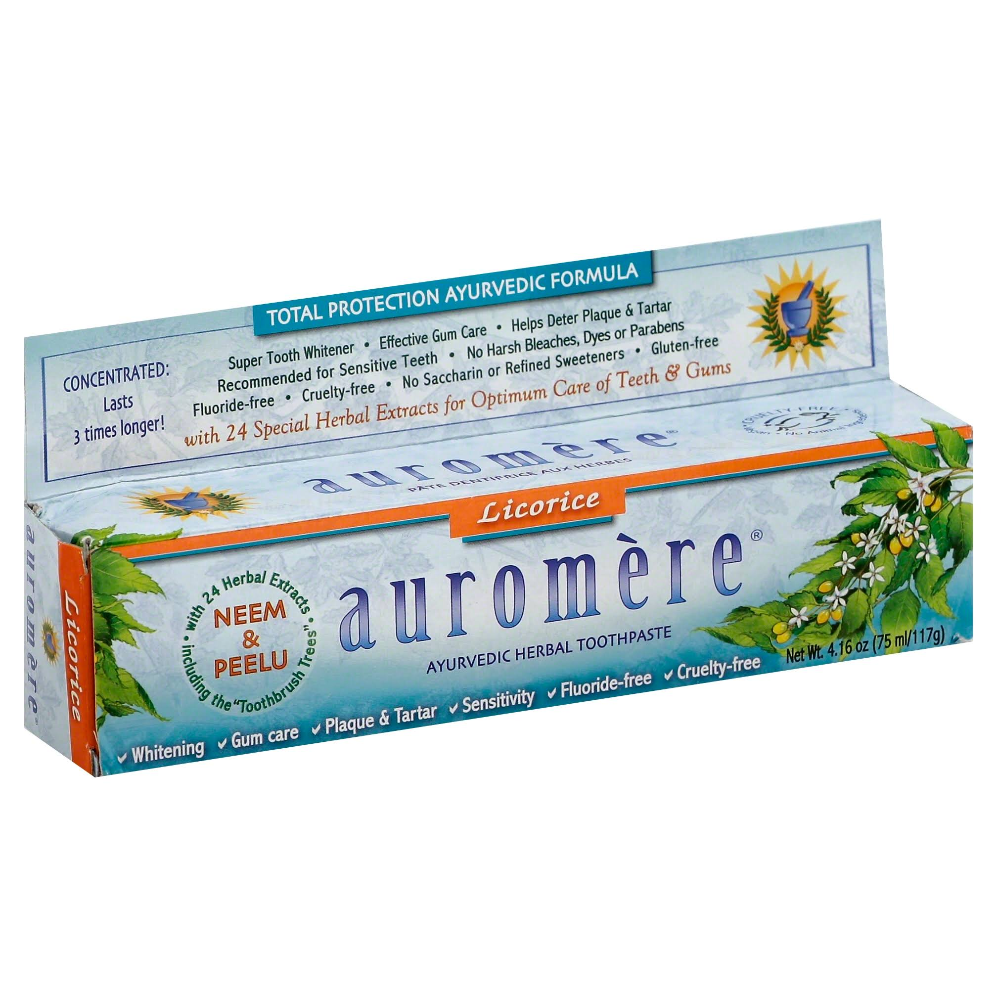 Auromere Toothpaste, Ayurvedic Herbal, Licorice - 4.16 oz