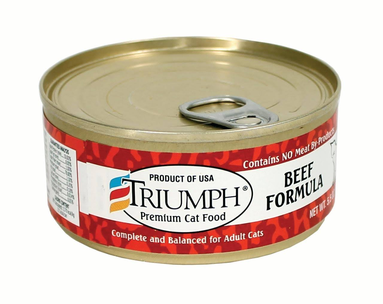 Triumph Canned Cat Food - Beef Food
