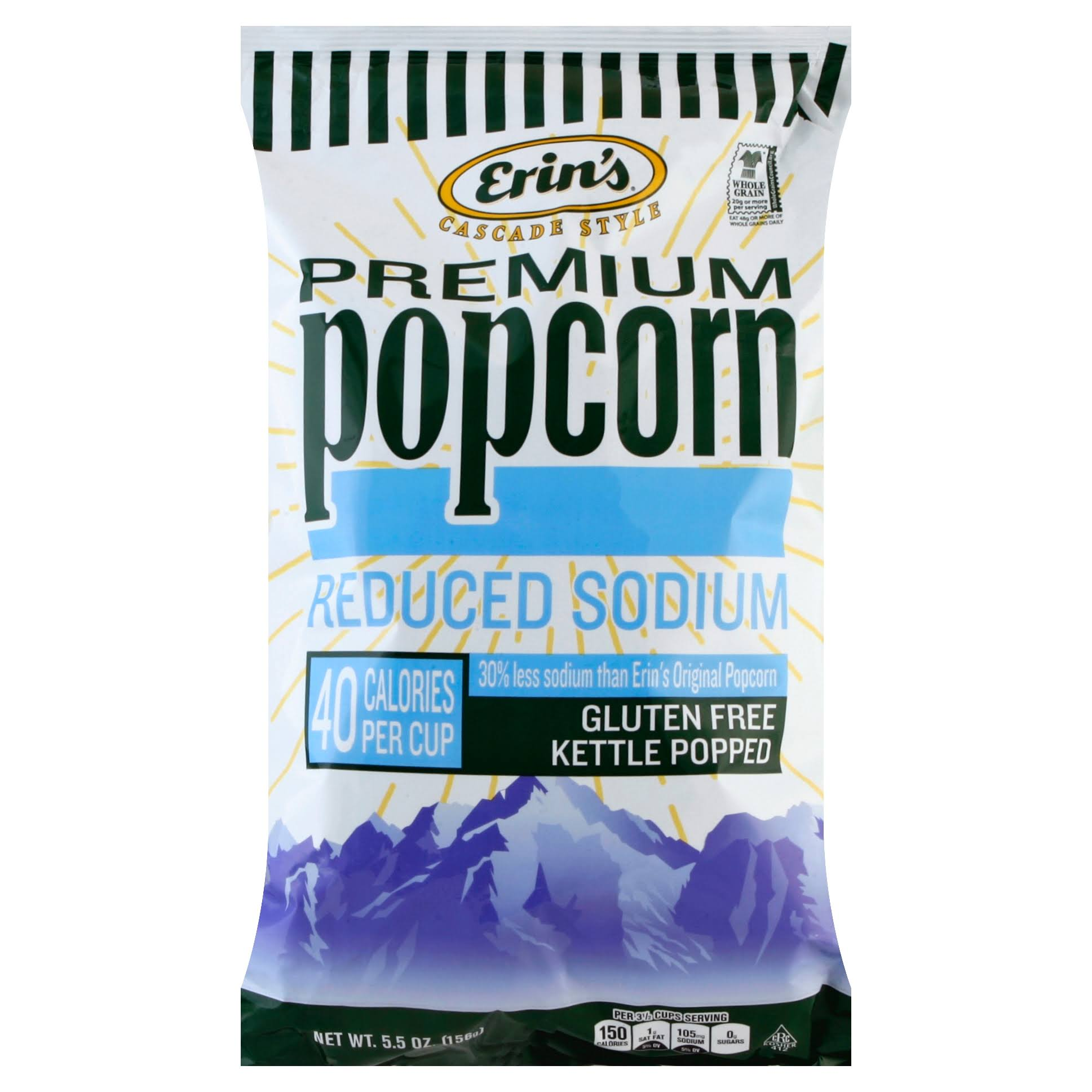 Erin's Reduced Sodium Popcorn Bag - 5.5oz