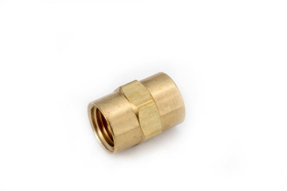 Anderson Metals Brass Coupling - 1/4""