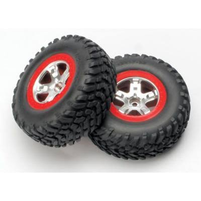 Traxxas 5875a Slash Front Tires Wheels - Assembled