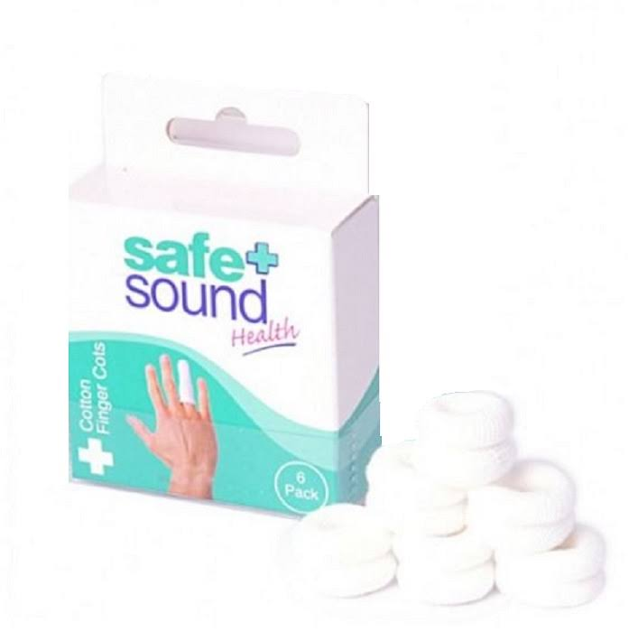 Safe + Sound Health 6 Cotton Finger Cots - x6