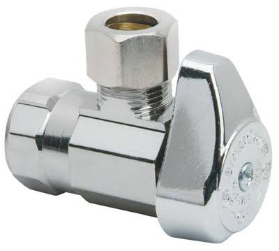 Brass Craft Angle Stop Valves - 1/2in x 3/8in