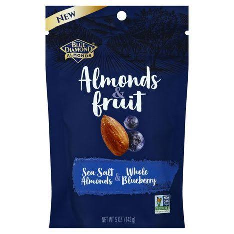 Blue Diamond Almonds Almonds and Fruit - Salt Almonds and Whole Blueberry, 5oz
