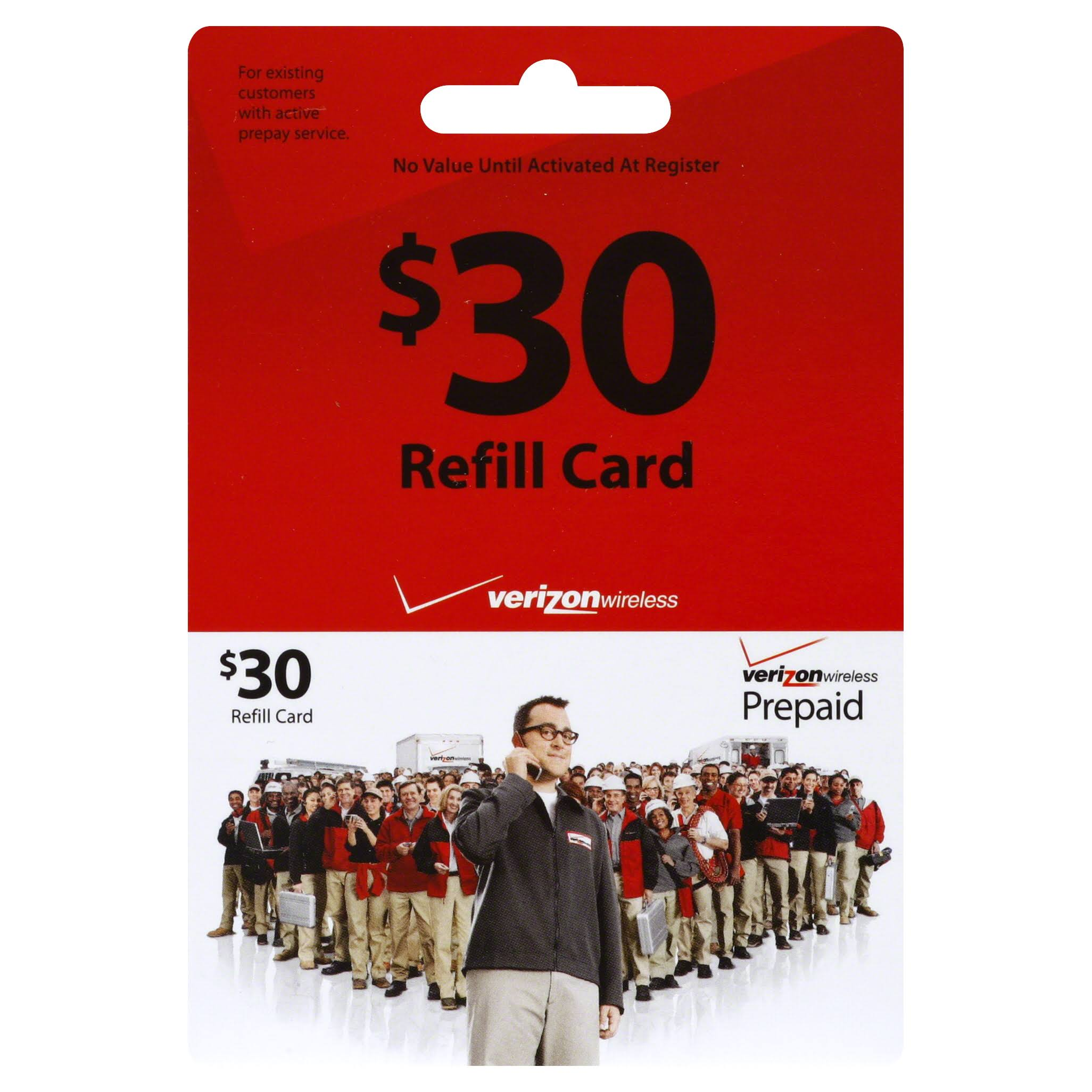 Verizon Wireless Refill Card,