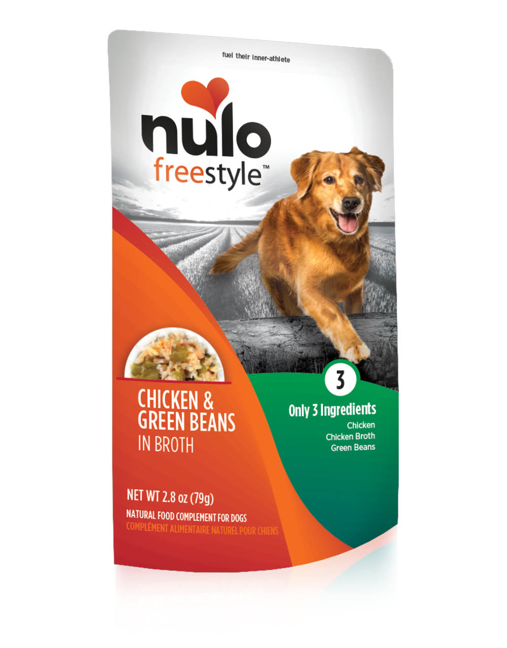 Nulo Freestyle Grain Free Chicken & Green Beans Recipe Pouch Dog Food 2.8oz