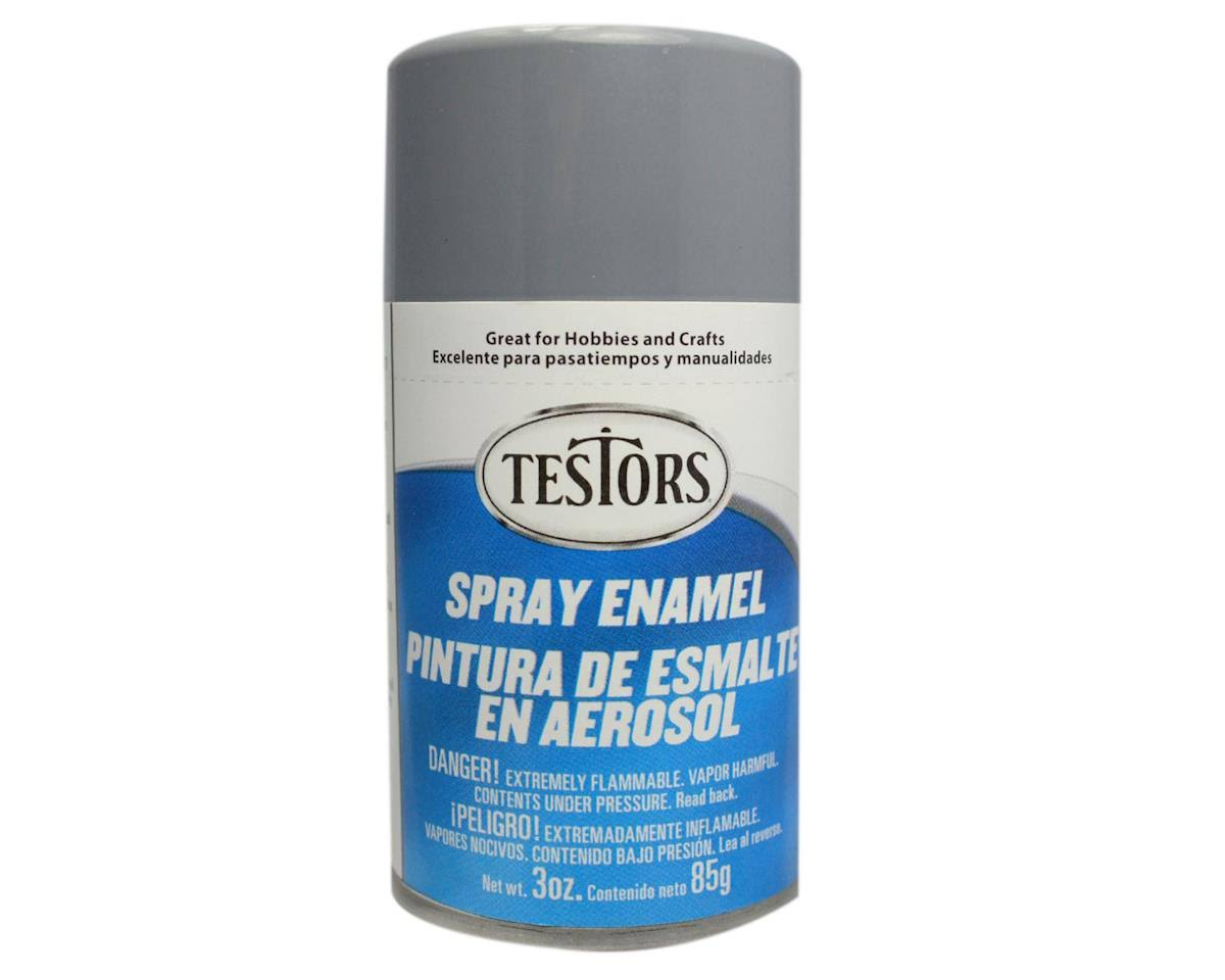 Testors - 1238T Spray Gray 3 oz. Enamel Paint