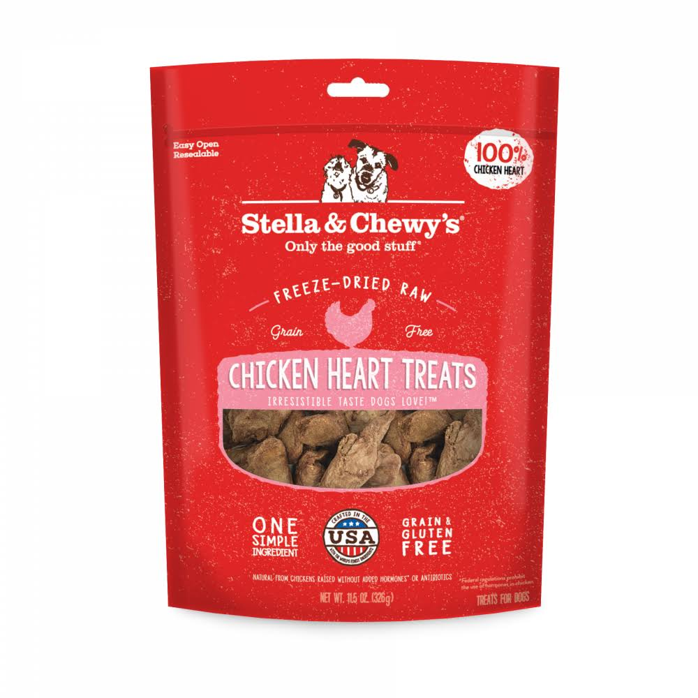 Stella & Chewy's Freeze Dried Raw Chicken Hearts Dog Treats - 3-oz