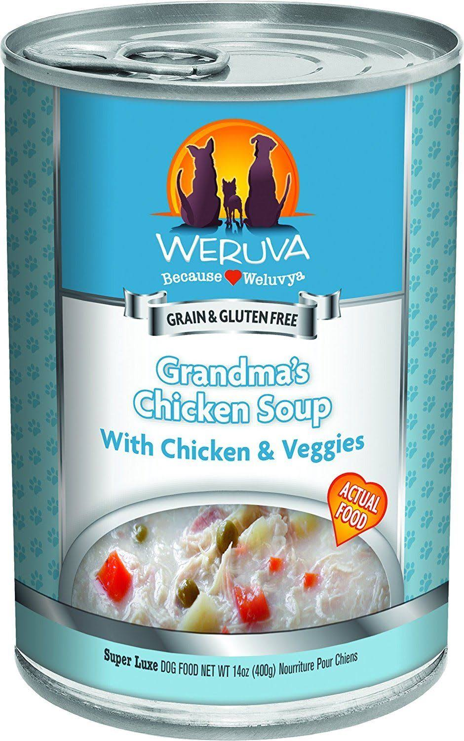 Weruva Grain Free Canned Dog Food - Grandma's Chicken Soup, Adult, 14oz