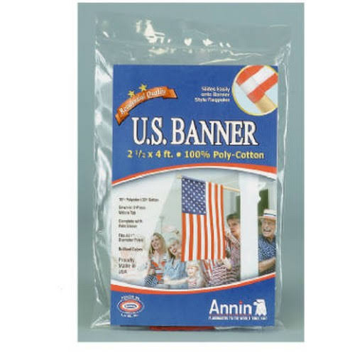 Annin Flagmakers PolyCotton U.S. Banner - 2.5' x 4'