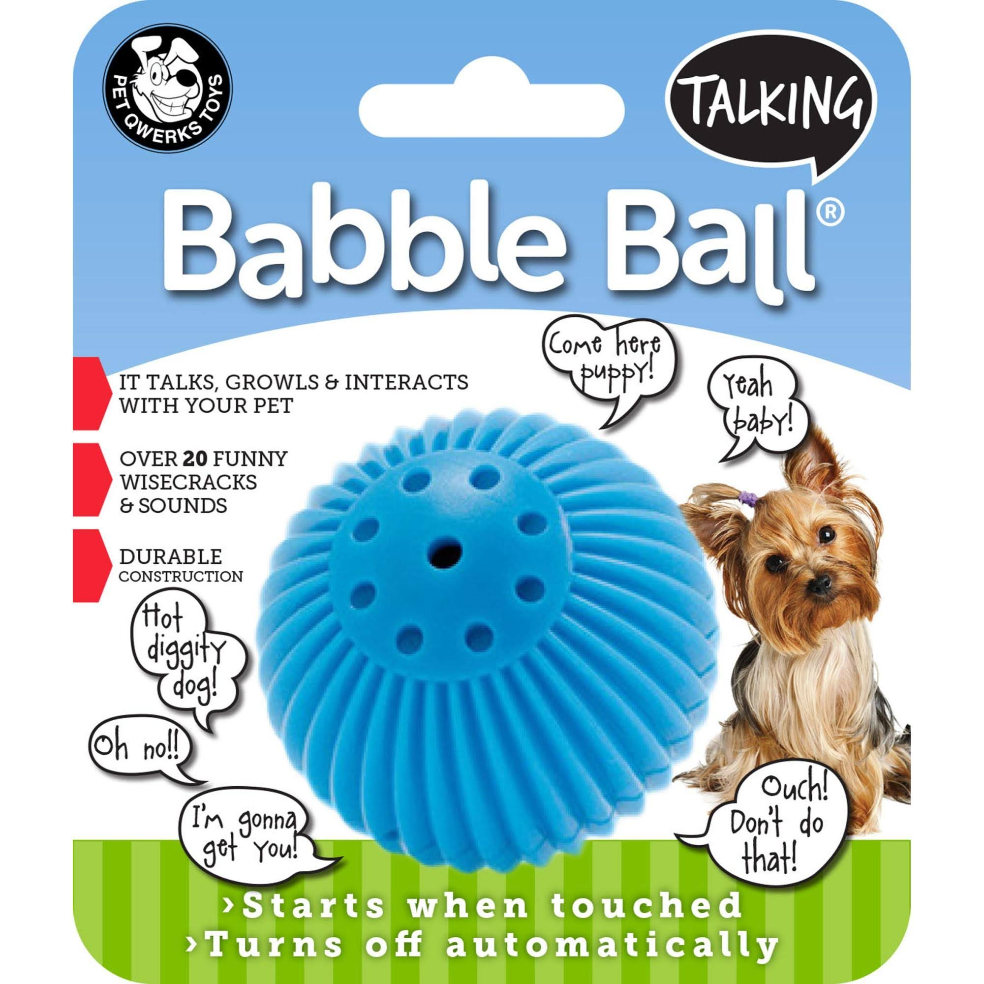 Pet Qwerks Inc. Talking Babble Balls Dog Toy - Small