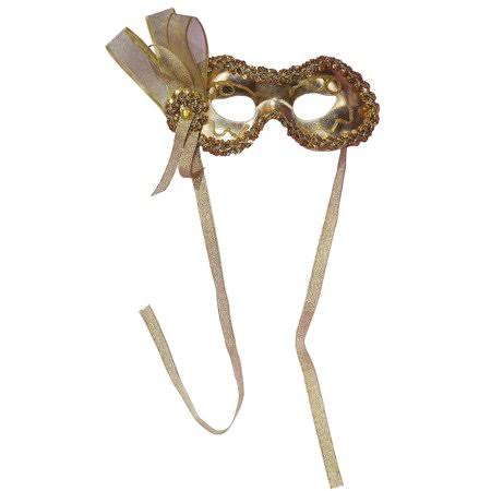 Fancy Mardi Gras Mask - Gold