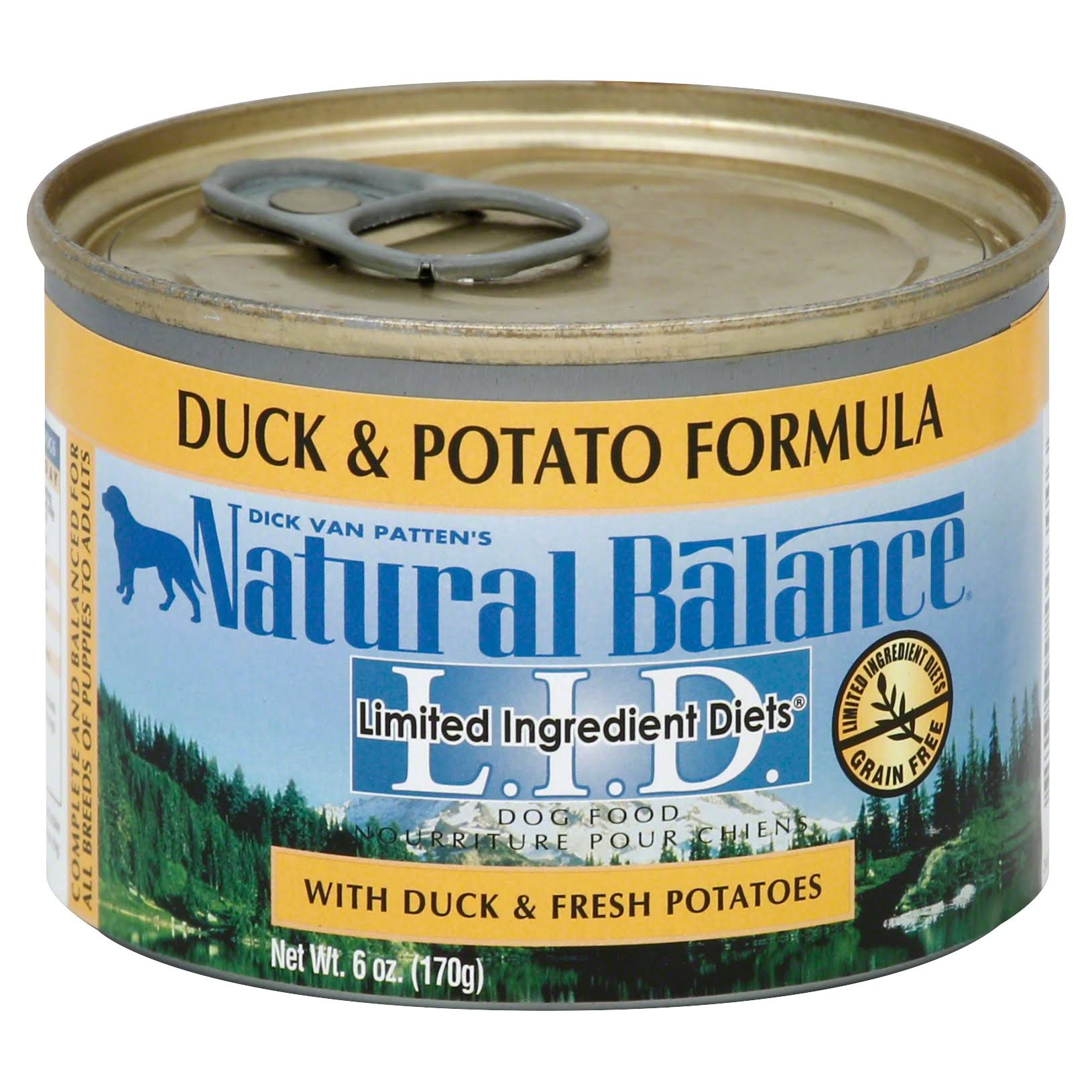 Natural Balance Pet Food L.I.D. Canned Dog Food - Duck and Potato