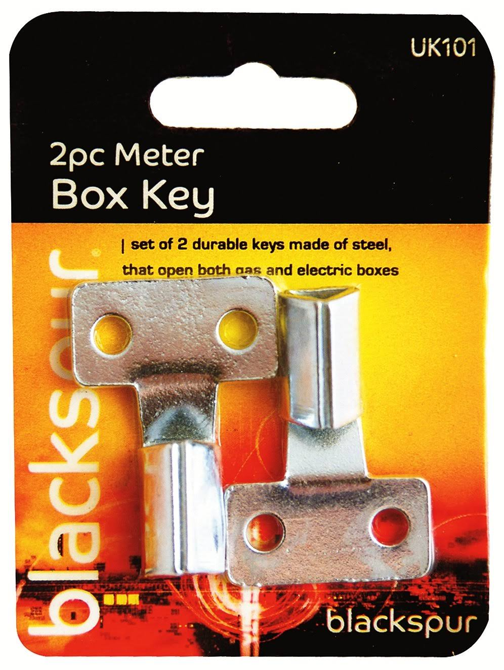 Blackspur Meter Box Key - 2 Pieces