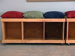 Build Outdoor Storage Bench by How To Build A Rolling Storage Bench Hgtv