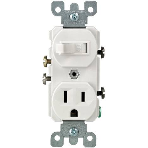 Leviton Combo Switch & Receptacle - White