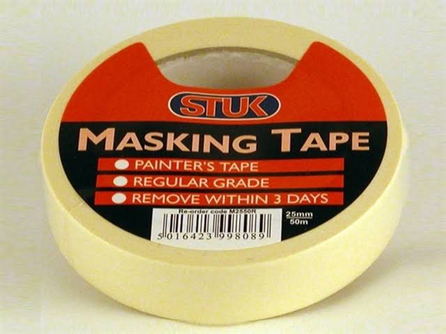 stuk Masking Tape White 24mm x 50m M2550R