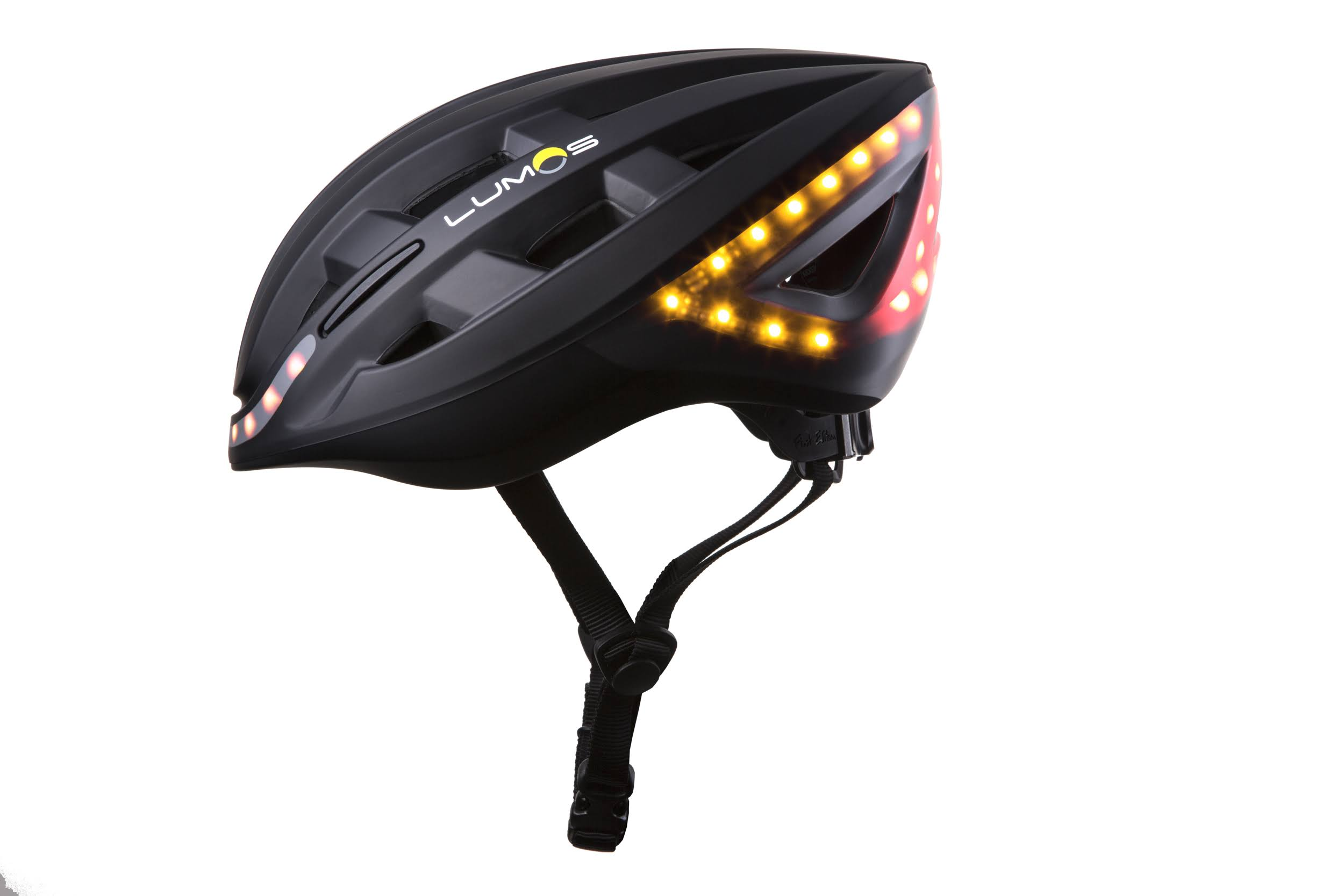 Lumos Wireless Turn Signal Remote Motion Sensor Bike Helmet - Charcoal Black