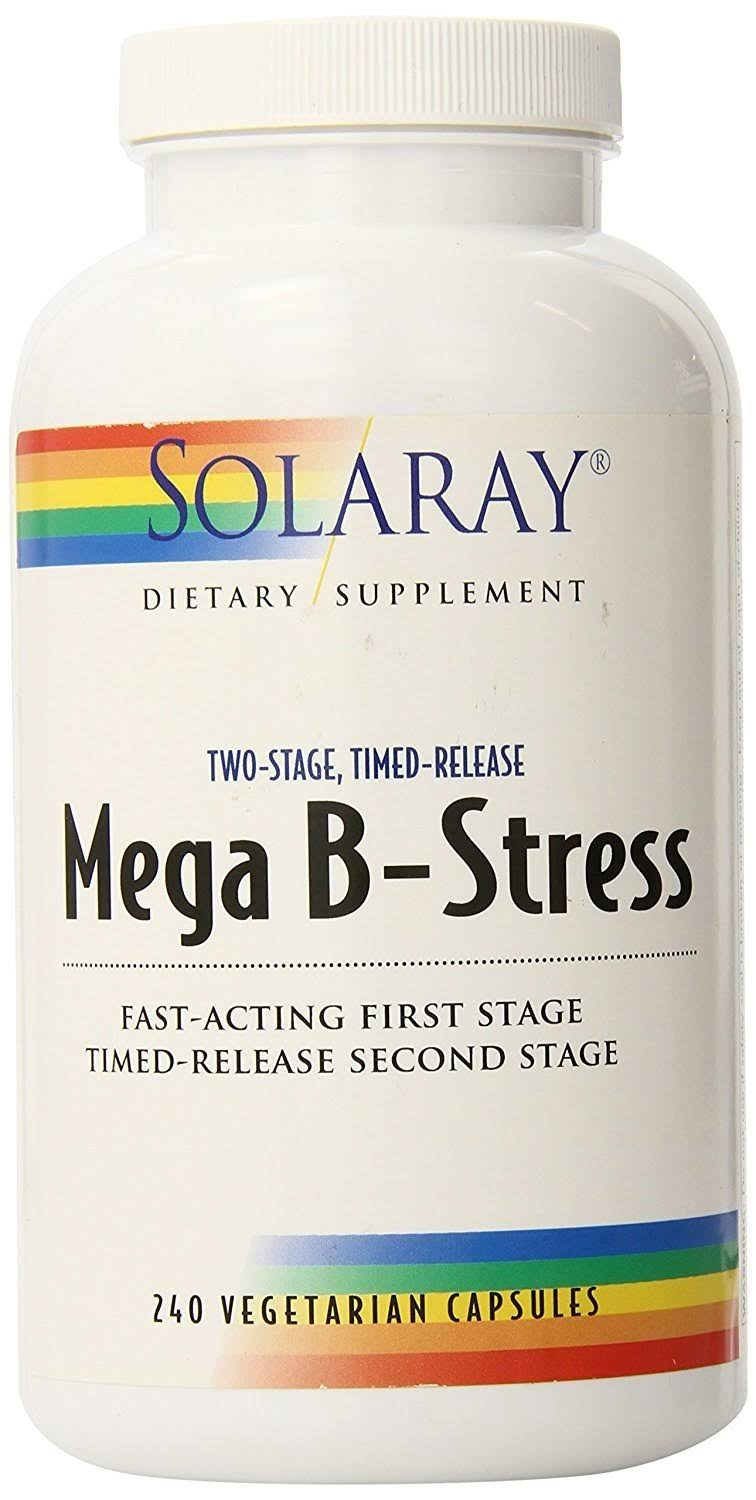 Solaray Two-Stage Mega B-Stress Supplement - 240 Vegetarian Capsules