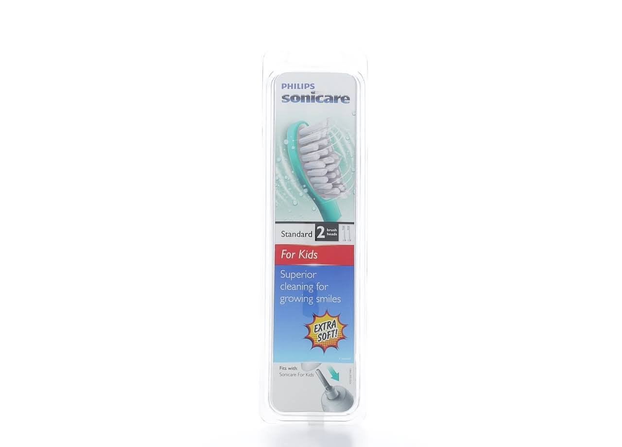 Philips Sonicare Standard Brush Heads - 2pk, for Ages 7-10