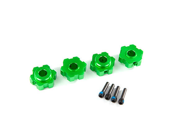 Traxxas Wheel Hex Hubs Aluminum Green-Anodized (4) TRA8956G