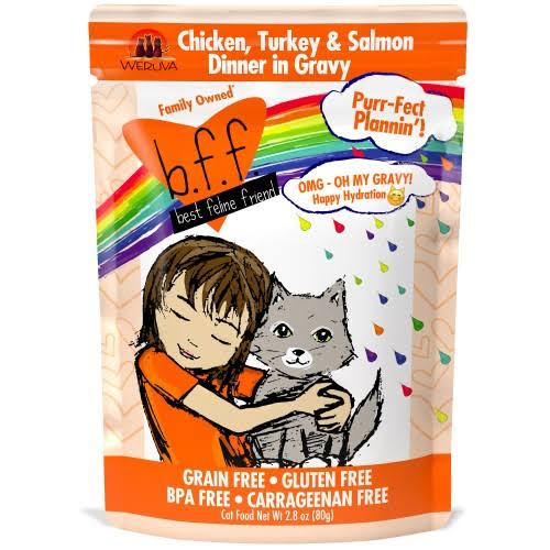 BFF OMG Chicken Turkey Salmon 2.8oz Pouch