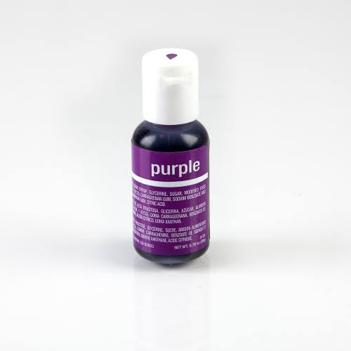 Chefmaster Liqua-Gel Food Color 0.7 Ounce - Purple