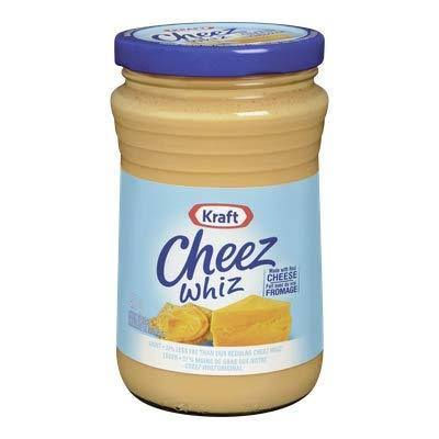 Kraft Cheez Whiz Light 6 Jars 450ml Each Made with Real Cheese Canadi