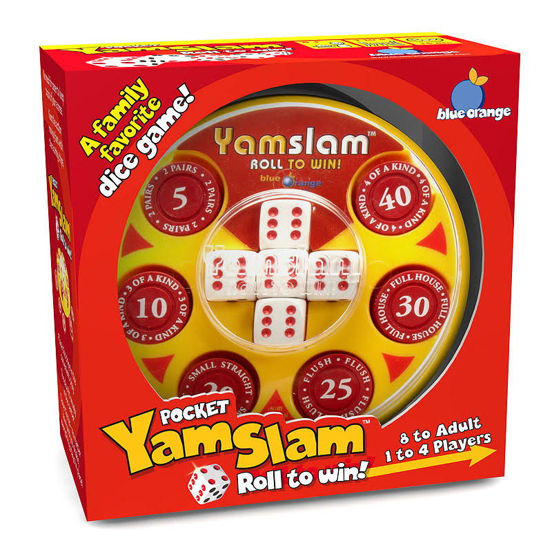 Blue Orange Pocket Yamslam Roll To Win Game