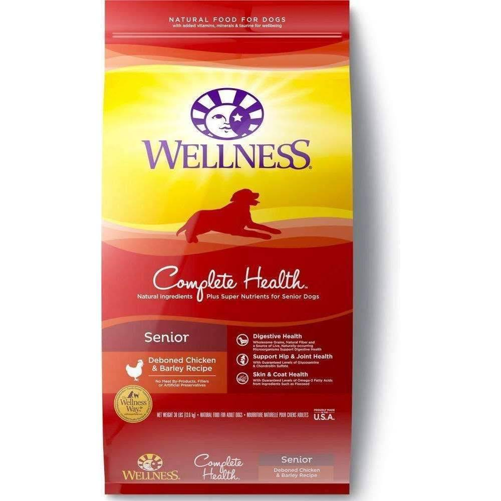 Wellness Complete Health Natural Dry Senior Dog Food - Chicken & Barley