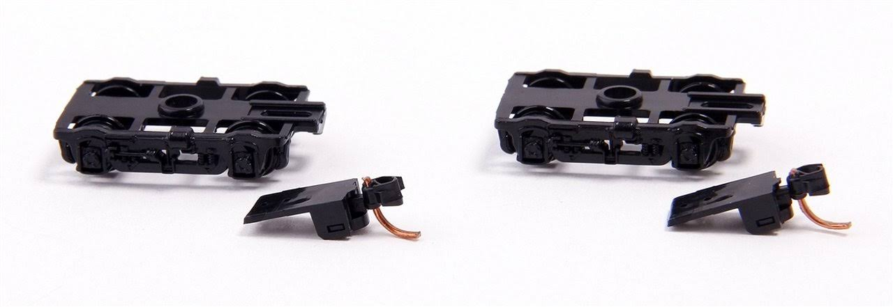 Micro-Trains Stock #00302051 Black 4-Wheel Lightweight Passenger Car Trucks