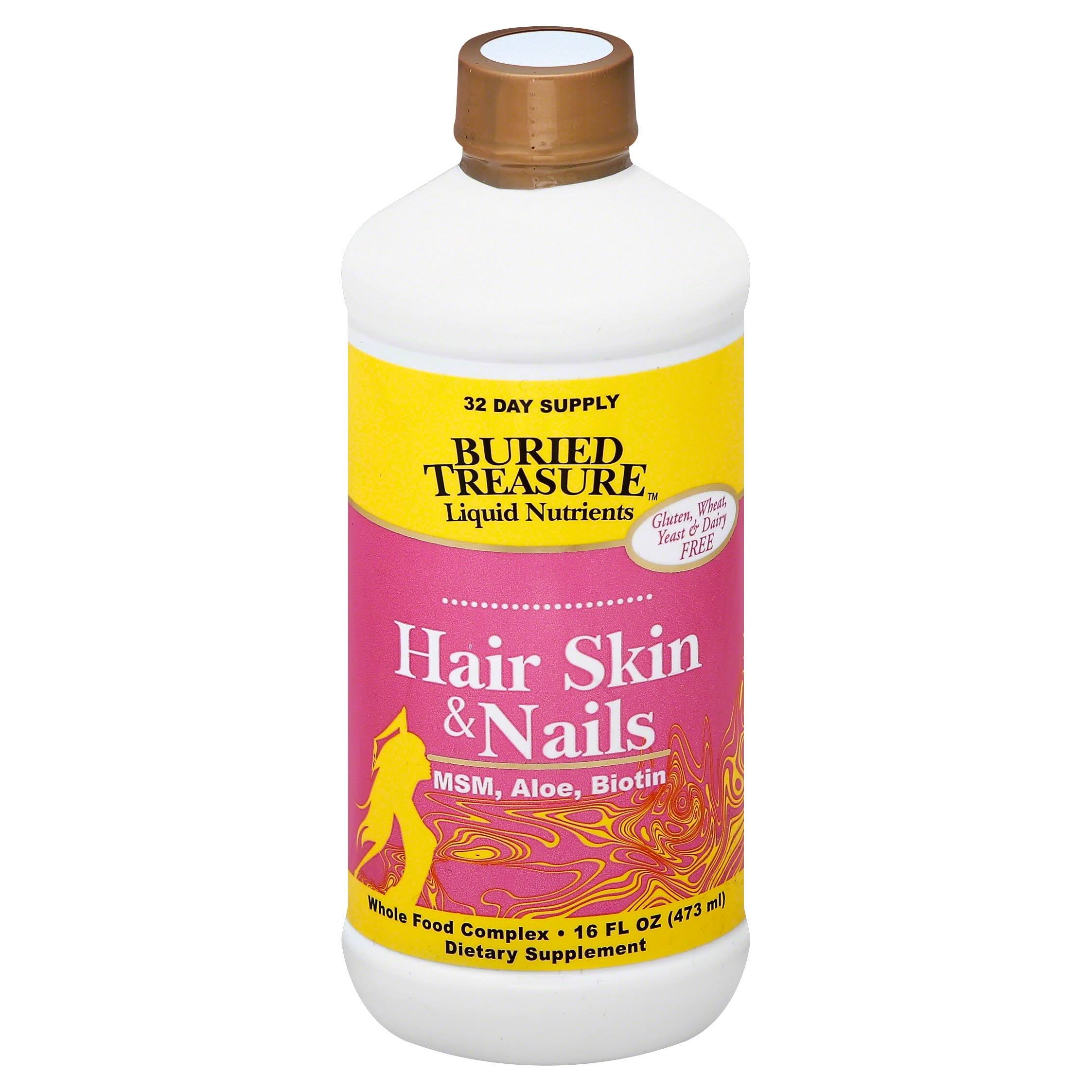 Buried Treasure Hair Skin and Nails Dietary Supplement - 16oz