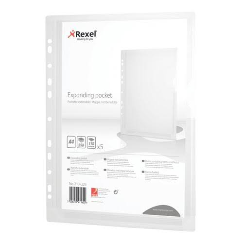Rexel Expanding Punched Pockets A4 (Pack of 5) 2104223