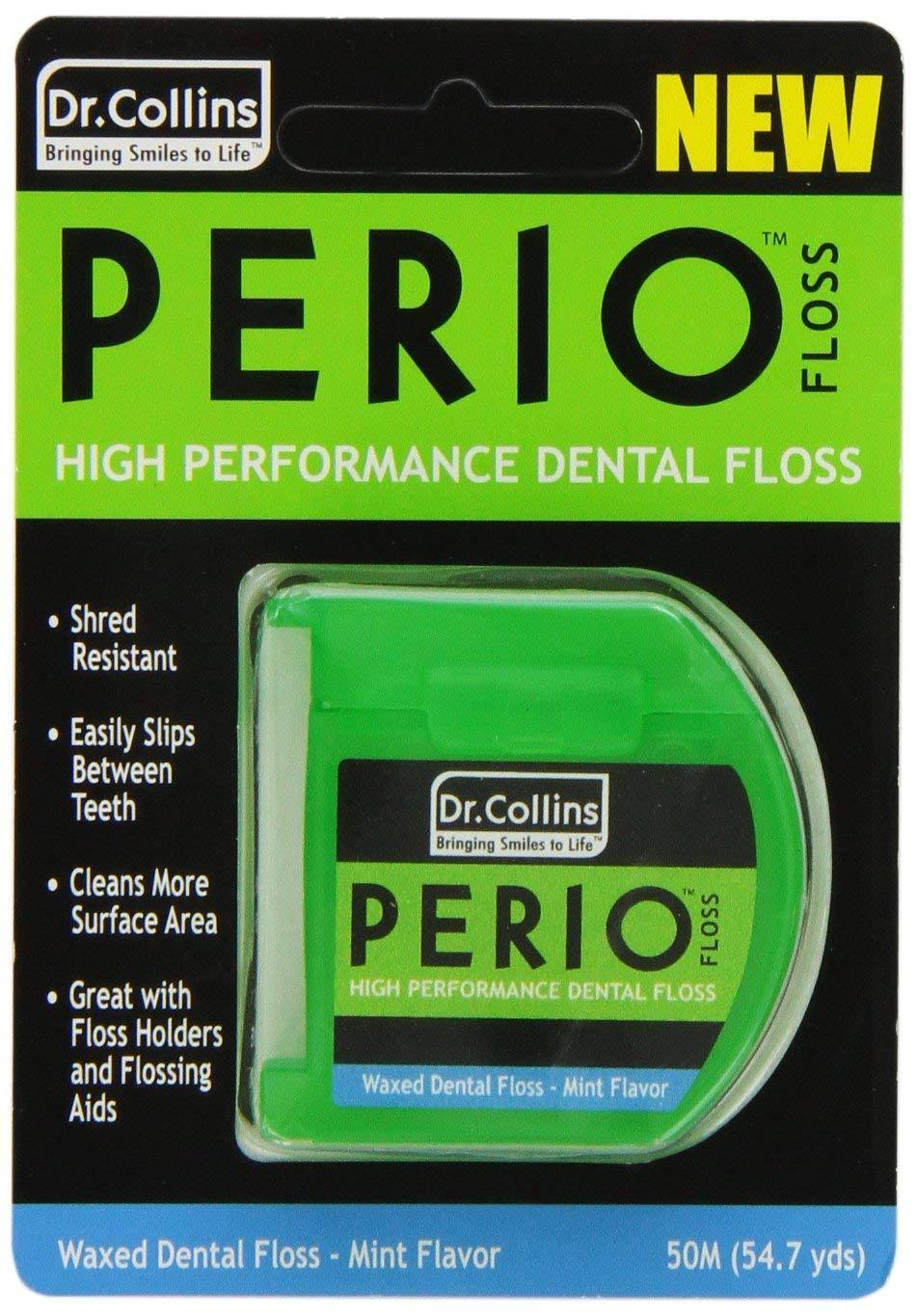 Dr. Collins Dental Work Floss - Mint Waxed, 50m