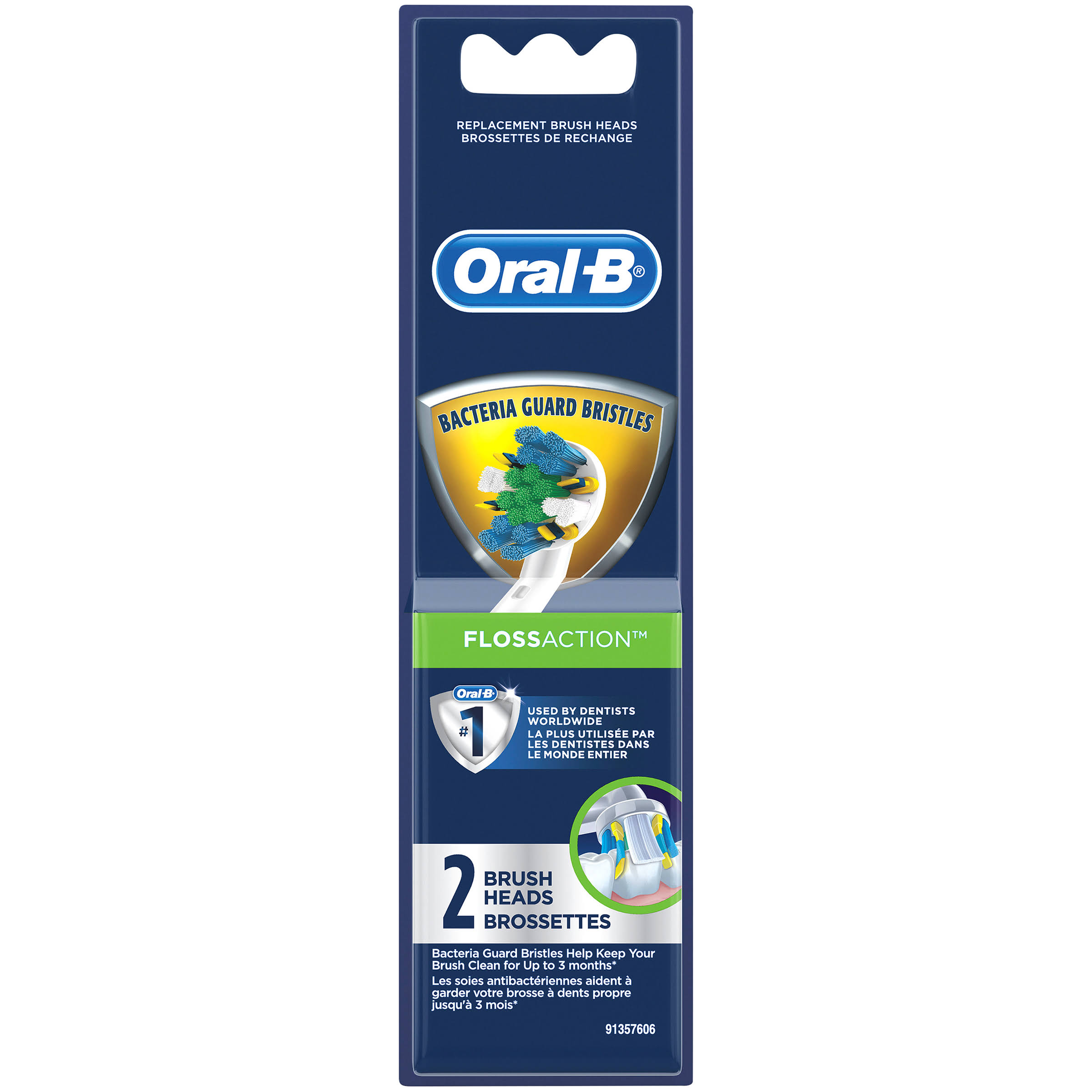 Oral-B Floss Action Replacement Brush Heads - 2pk
